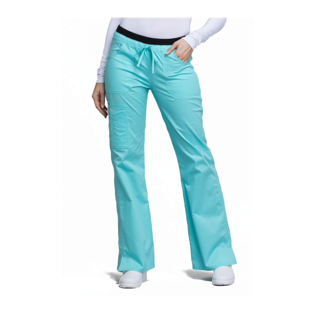 e216a166408 Cherokee Workwear Pant WW Core Stretch Contemporary Fit Low Rise Drawstring  Cargo Pant Tahiti Sweetie Pant
