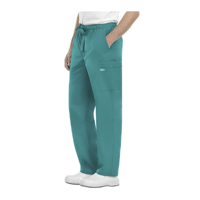 Cherokee Workwear Pant WW Core Stretch Men's Men's Drawstring Cargo Pant Teal Pant