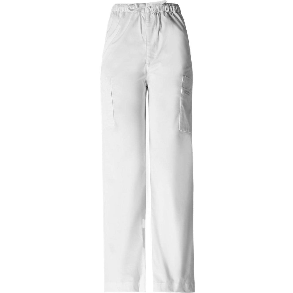 Cherokee Workwear Pant WW Core Stretch Men's Men's Drawstring Cargo Pant White Pant