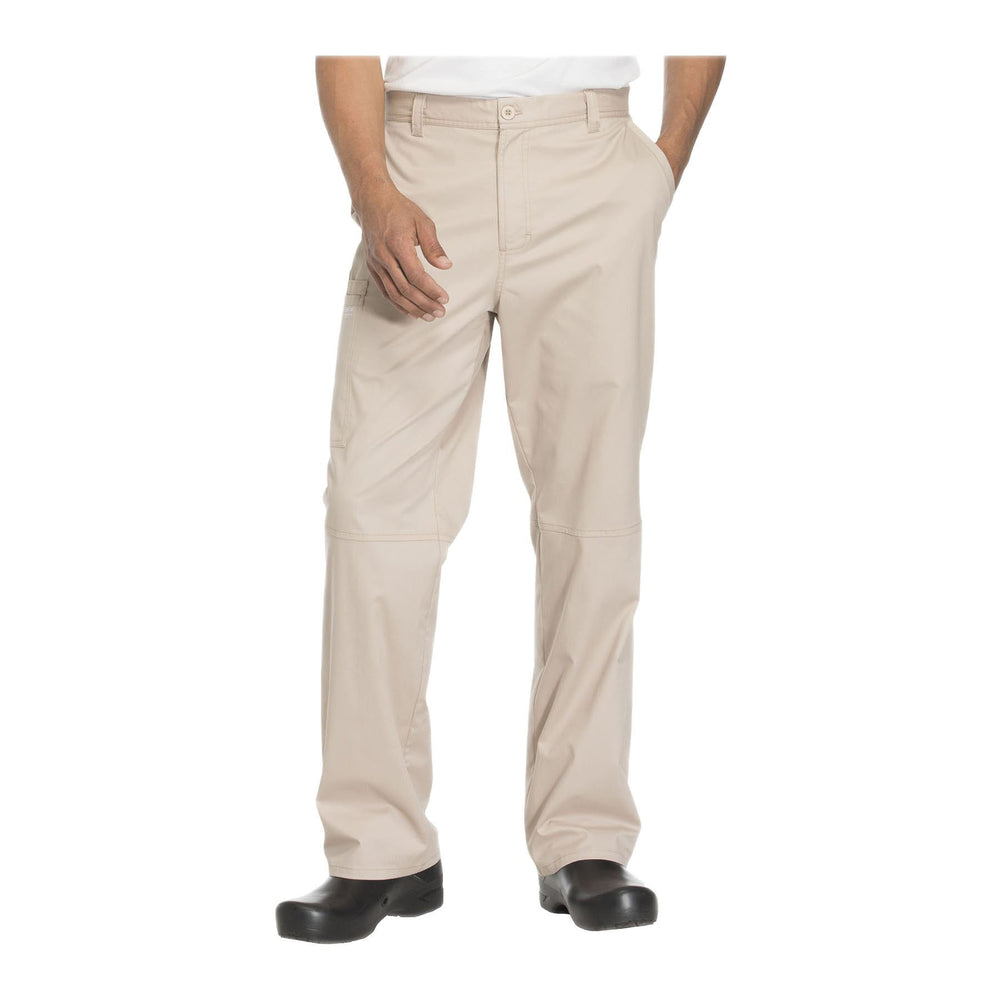 Cherokee Workwear Pant WW Core Stretch Men's Men's Fly Front Pant Khaki Pant