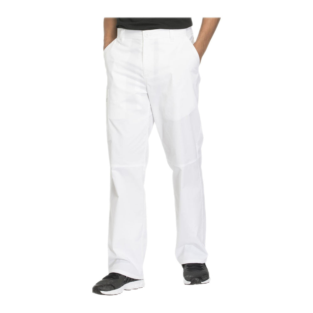 Cherokee Workwear Pant WW Core Stretch Men's Men's Fly Front Pant White Pant