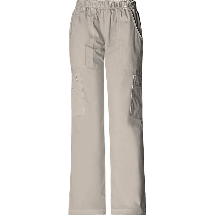 Cherokee Workwear Pant WW Core Stretch Mid Rise Pull-On Pant Cargo Pant Khaki Pant