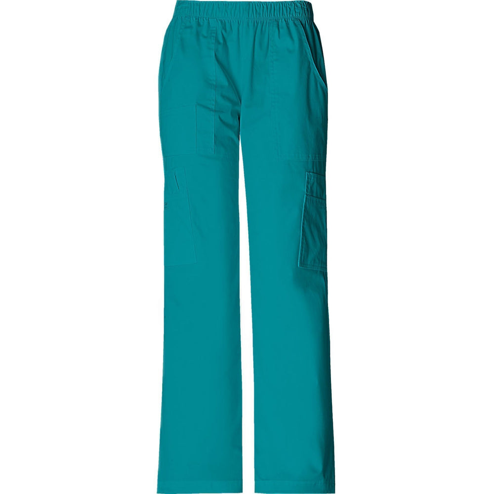 Cherokee Workwear Pant WW Core Stretch Mid Rise Pull-On Pant Cargo Pant Teal Pant