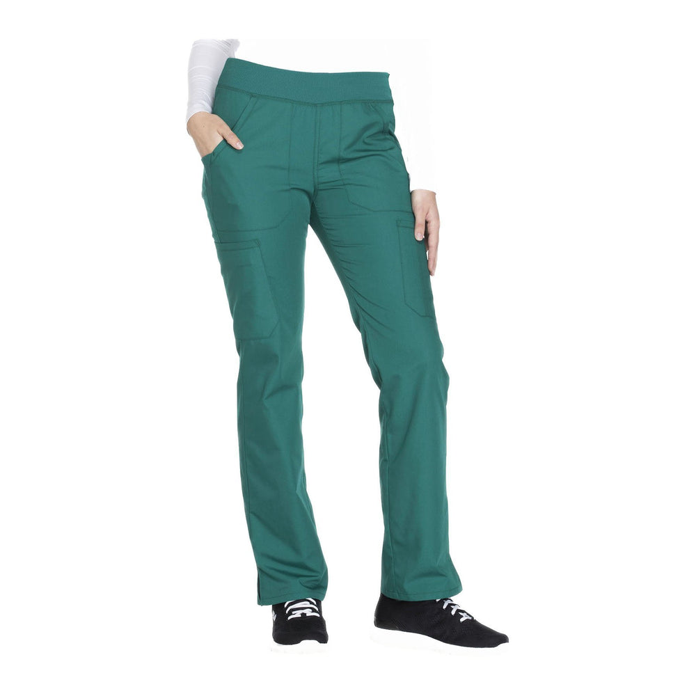 Cherokee Workwear Pant WW Mid Rise Straight Leg Pull-on Cargo Pant Hunter Pant