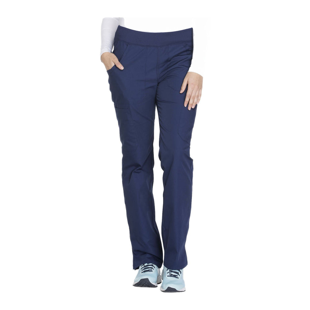 Cherokee Workwear Pant WW Mid Rise Straight Leg Pull-on Cargo Pant Navy Pant