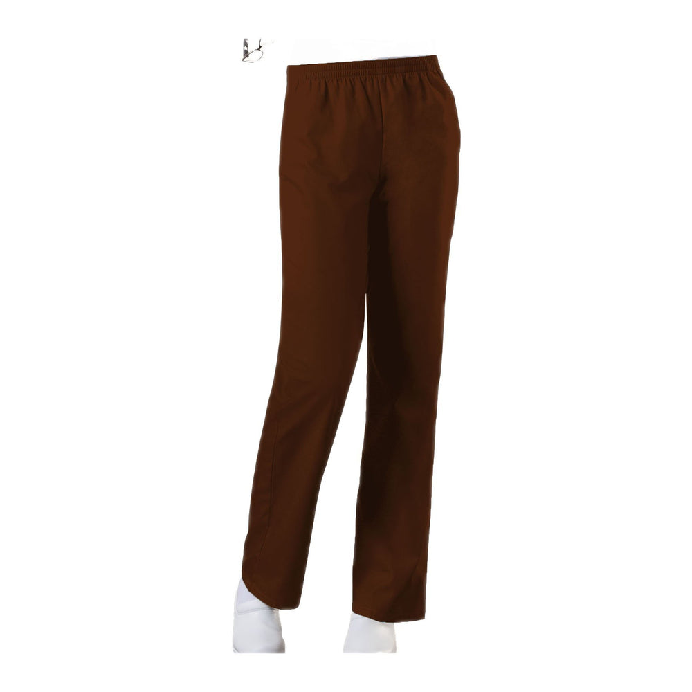 Cherokee Workwear Pant WW Natural Rise Tapered Leg Pull-On Pant Chocolate Pant