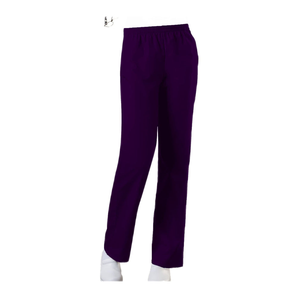 Cherokee Workwear Pant WW Natural Rise Tapered Leg Pull-On Pant Eggplant Pant