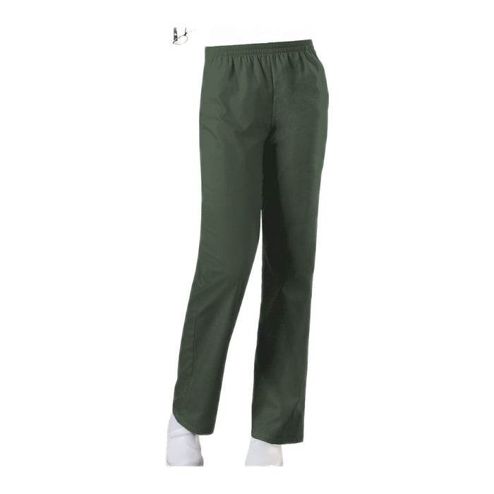 Cherokee Workwear Pant WW Natural Rise Tapered Leg Pull-On Pant Olive Pant