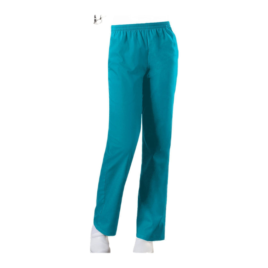 Cherokee Workwear Pant WW Natural Rise Tapered Leg Pull-On Pant Turquoise Pant
