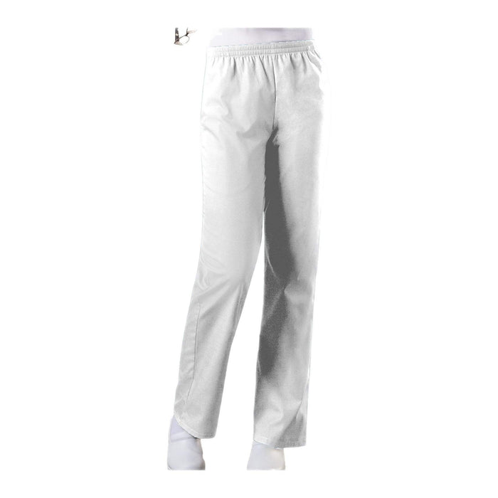 Cherokee Workwear Pant WW Natural Rise Tapered Leg Pull-On Pant White Pant