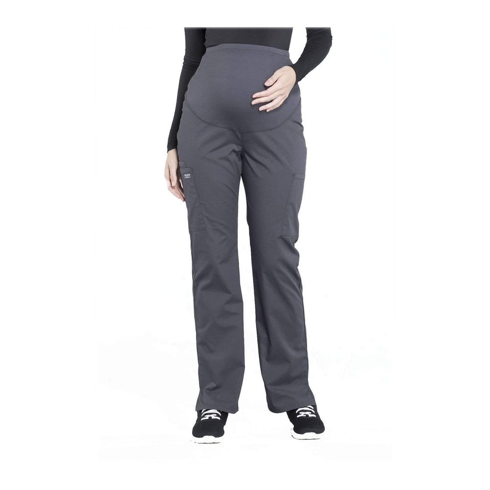 Cherokee Workwear Pant WW Professionals Maternity Straight Leg Pant Pewter Pant