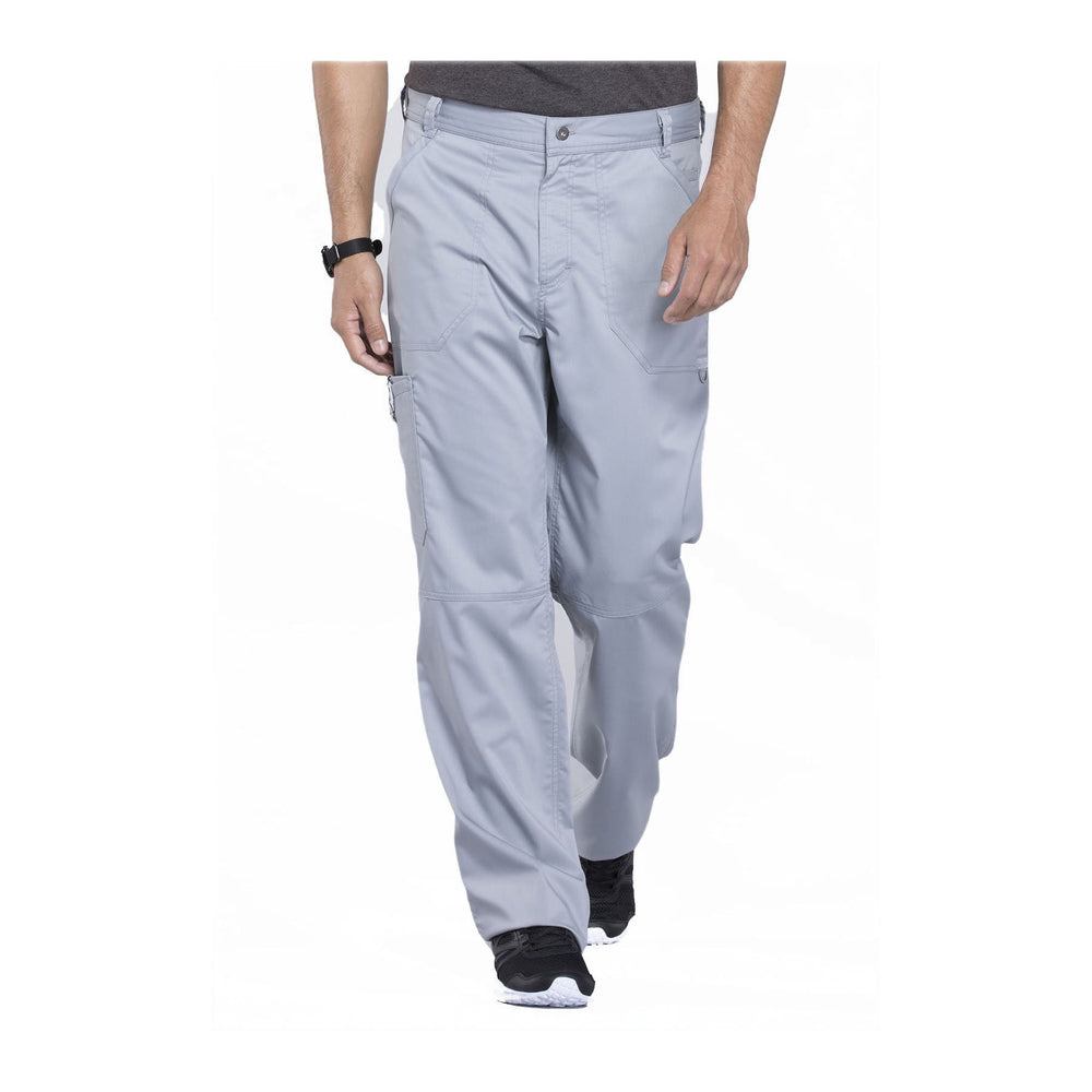 Cherokee Workwear Pant WW Revolution Men's Men's Fly Front Pant Grey Pant