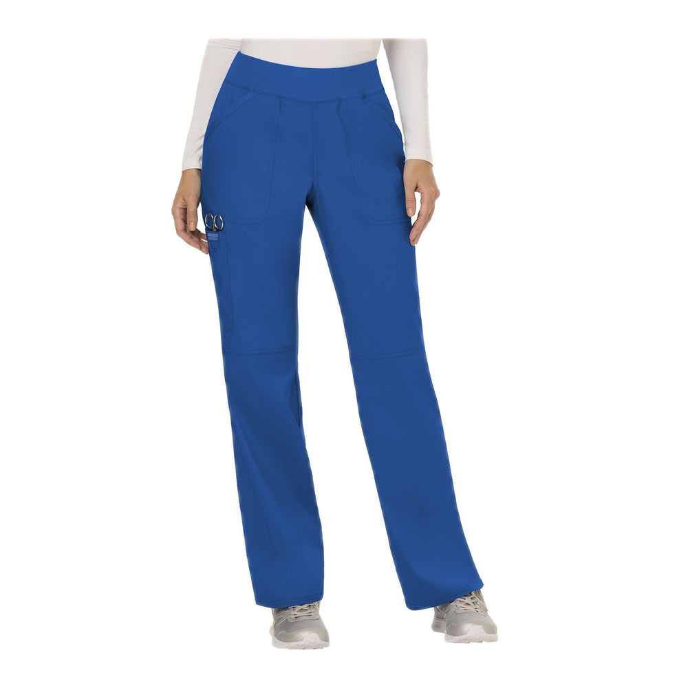 Cherokee Workwear Pant WW Revolution Mid Rise Straight Leg Pull-on Pant Royal Pant
