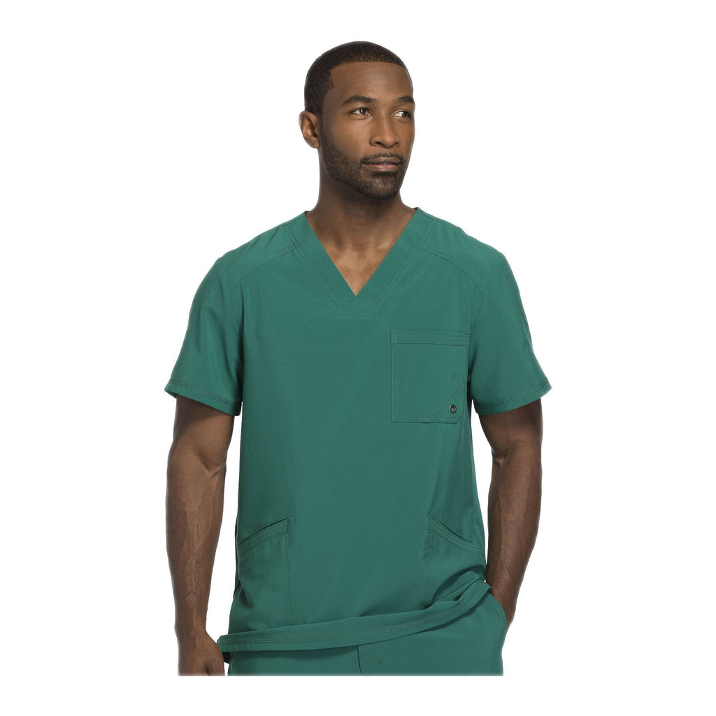 eac5aa6f82a Cherokee Scrubs Top Infinity Men V-Neck Top Hunter Green medical ...