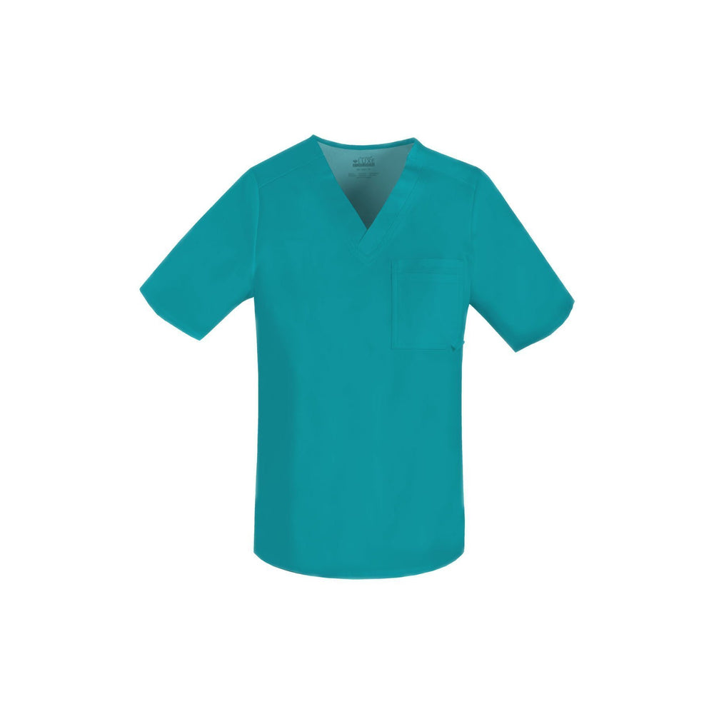 Cherokee Scrub Top Luxe for Men V-Neck Top Teal Top