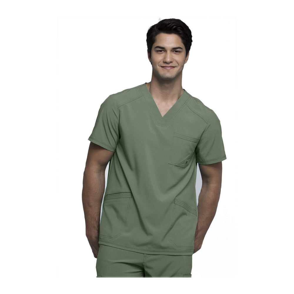 Cherokee Scrubs CK900A Infinity Men Top Mens Olive Top