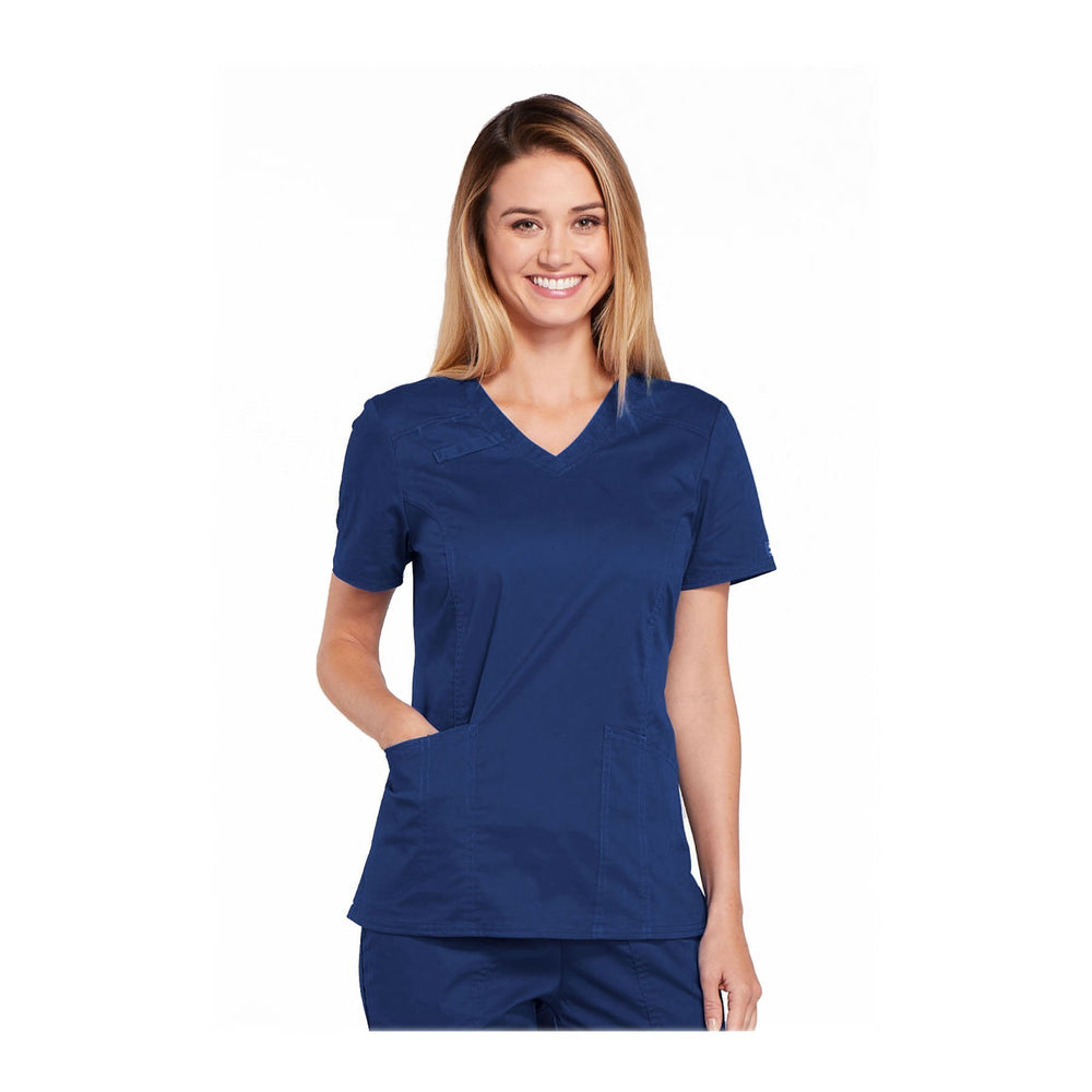 Cherokee Scrubs Workwear 4710 WW Core Stretch Top Modern Classic Navy Top