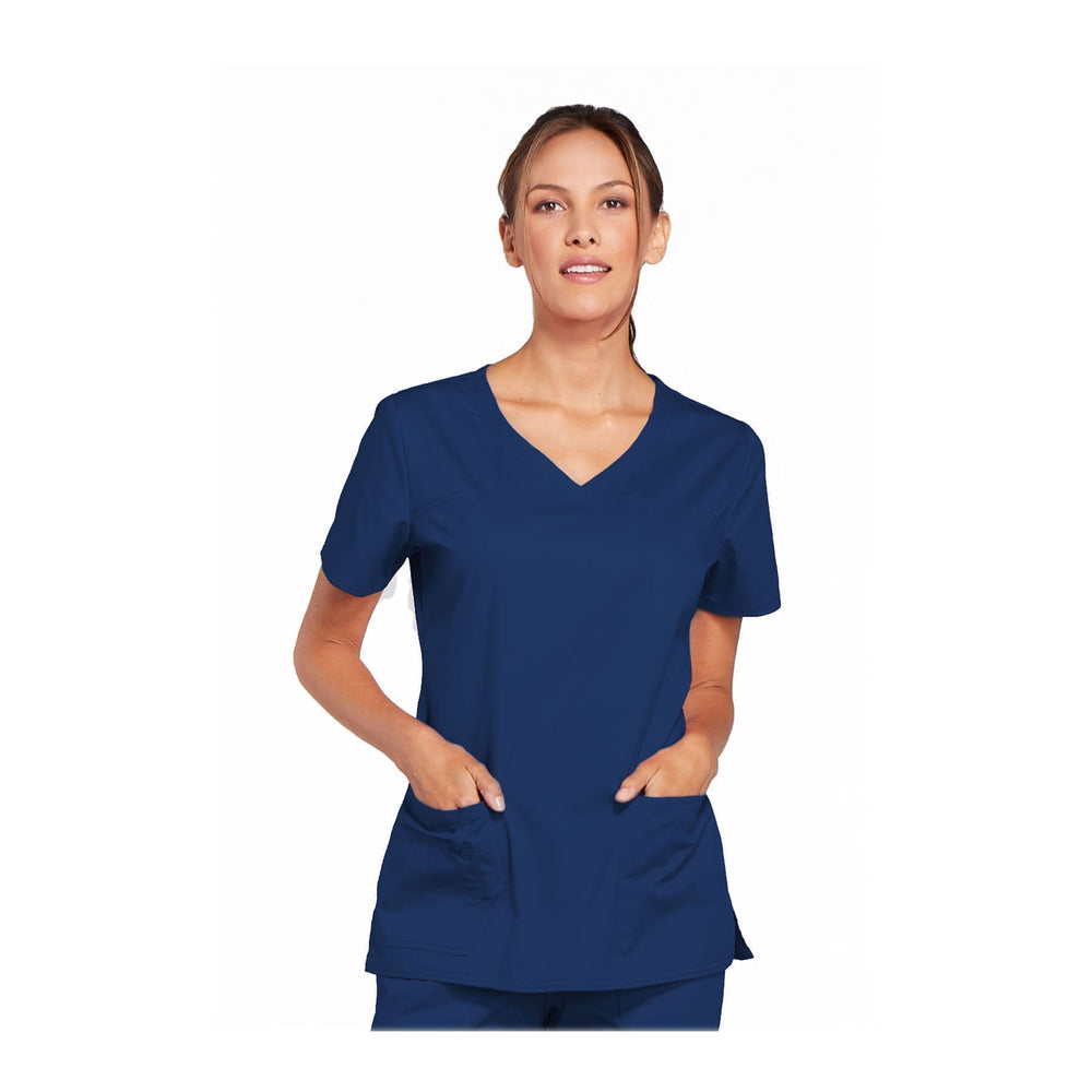 Cherokee Scrubs Workwear 4727 WW Core Stretch Top Modern Classic Navy Top