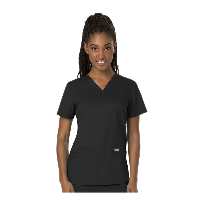 Cherokee Scrubs Workwear WW620 WW Revolution Top Modern Classic Black Top