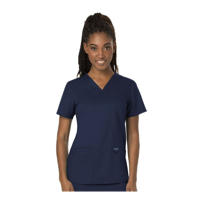 Cherokee Scrubs Workwear WW620 WW Revolution Top Modern Classic Navy Top