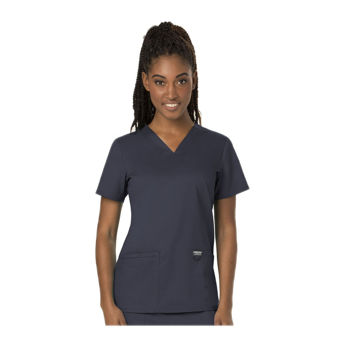 Cherokee Scrubs Workwear WW620 WW Revolution Top Modern Classic Pewter Top