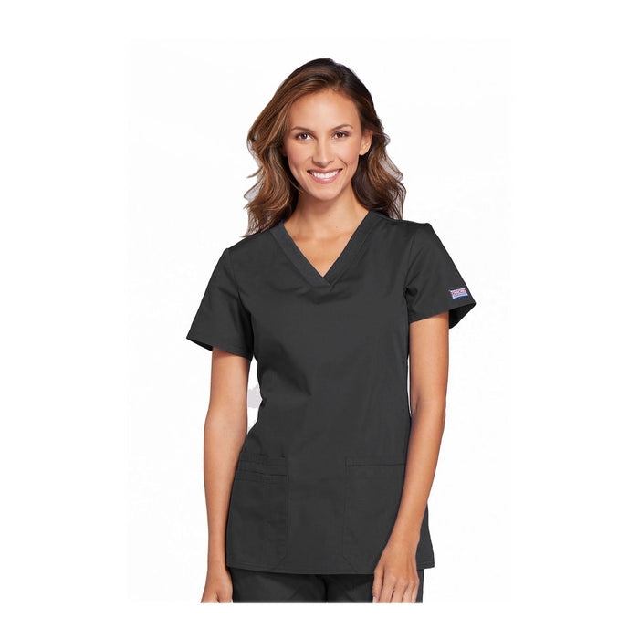 Cherokee Scrubs Workwear WW645 WW Top Contemporary Pewter Top