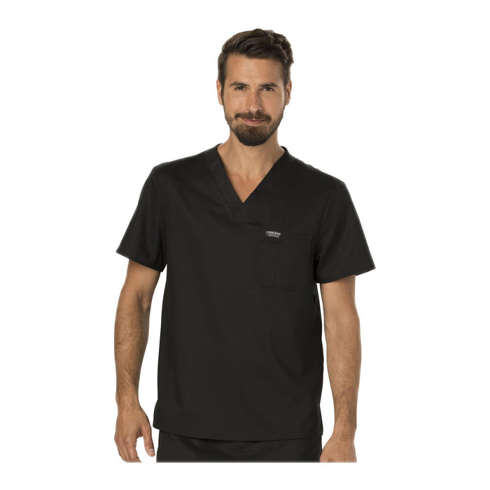Cherokee Scrubs Workwear WW690 WW Revolution Mens Top Mens Black Top