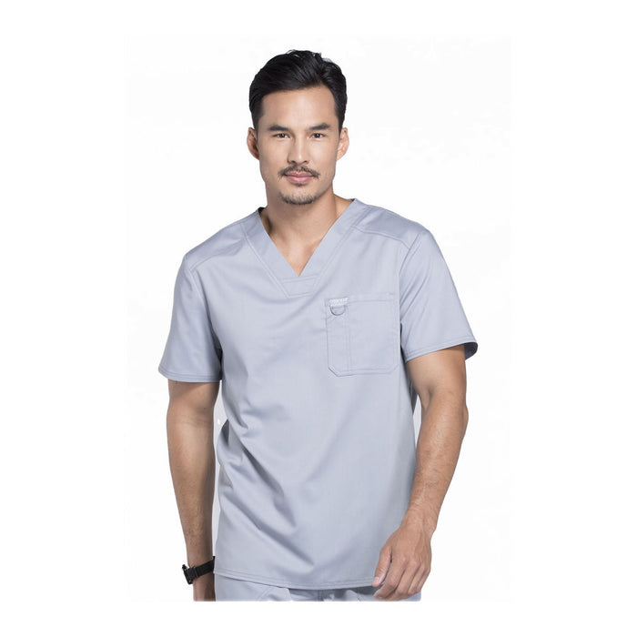 Cherokee Scrubs Workwear WW690 WW Revolution Mens Top Mens Grey Top