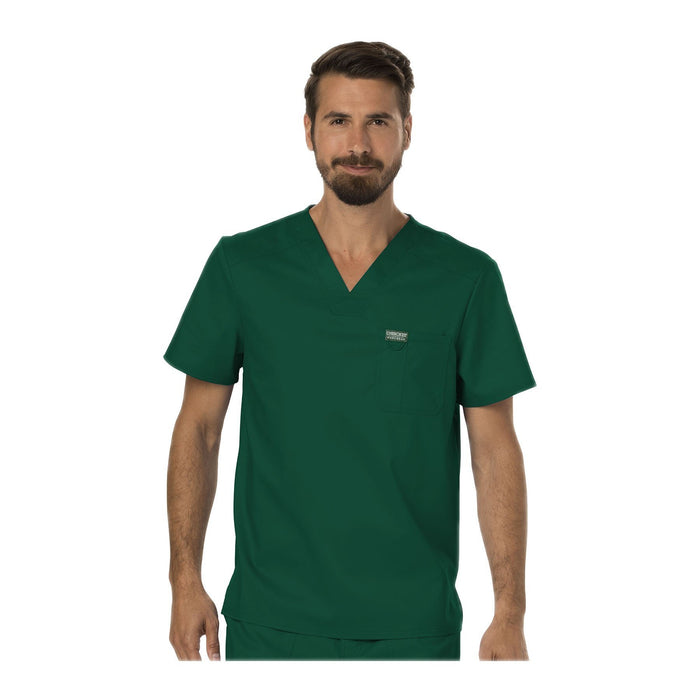 Cherokee Scrubs Workwear WW690 WW Revolution Mens Top Mens Hunter Green Top