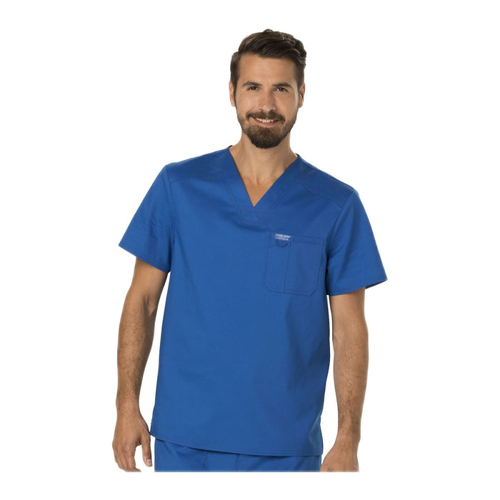 Cherokee Scrubs Workwear WW690 WW Revolution Mens Top Mens Royal Top