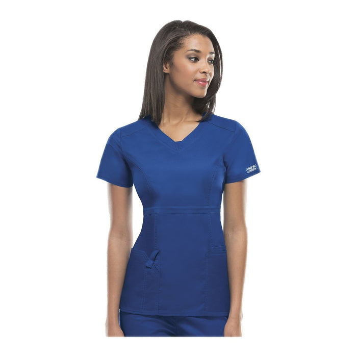 Cherokee Workwear Top WW Core Stretch Contemporary Fit V-Neck Top Royal Top