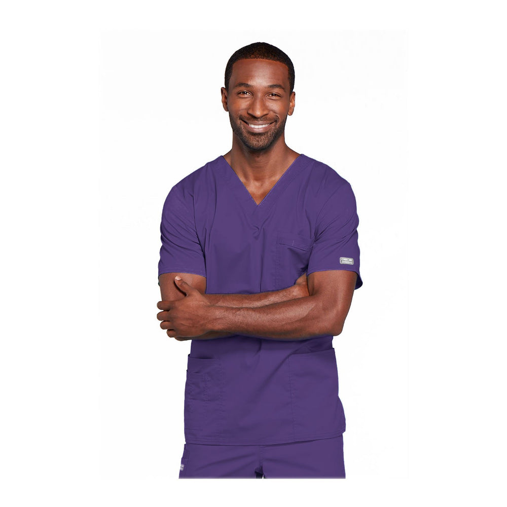 Cherokee Workwear Top WW Core Stretch Unisex Unisex V-Neck Top Grape Top