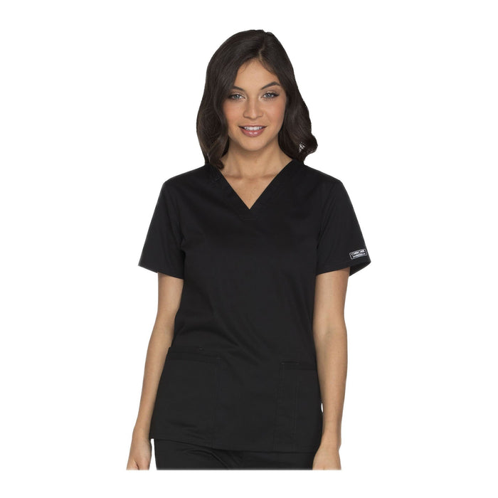 Cherokee Workwear Top WW Core Stretch V-Neck Top Black Top