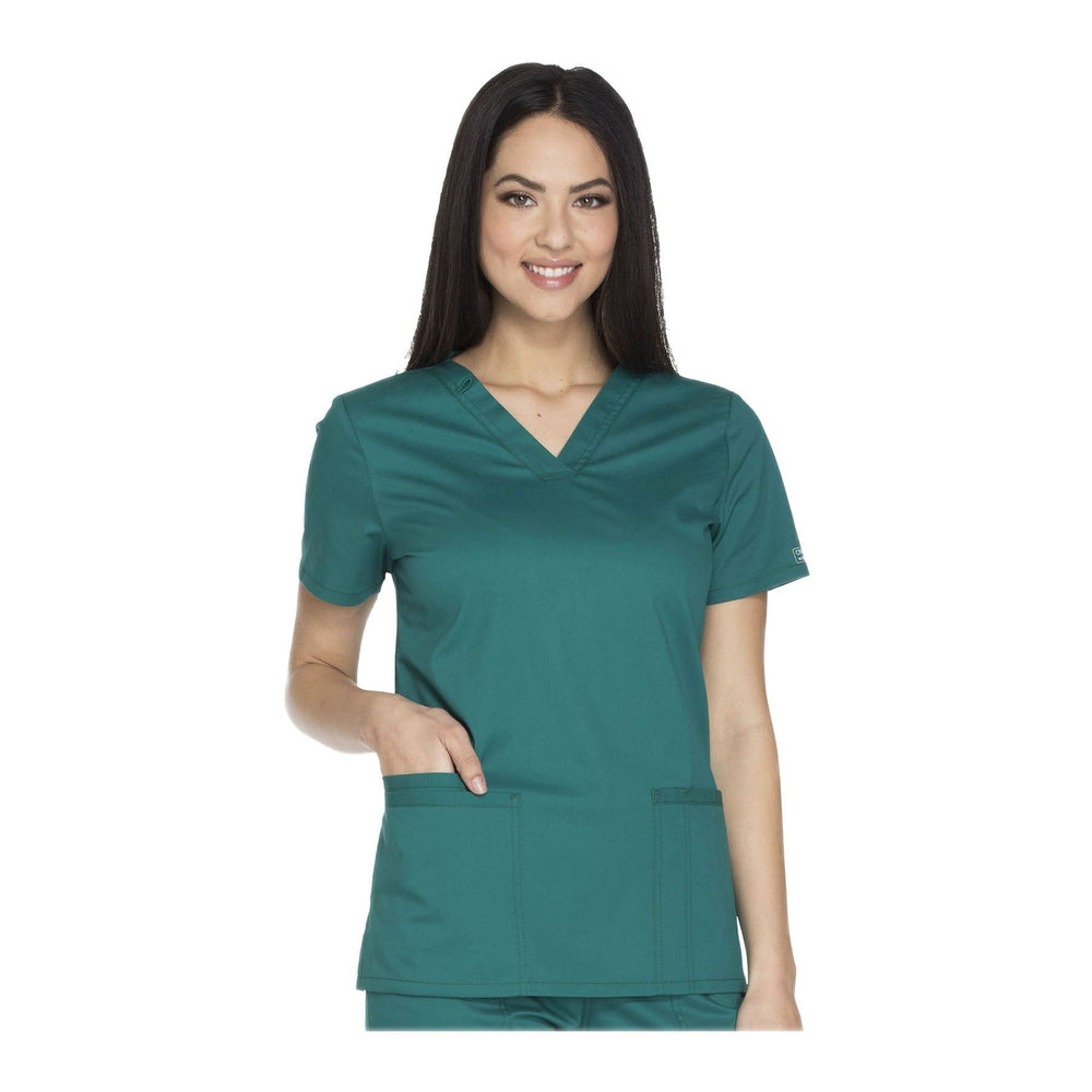 Cherokee Workwear Top WW Core Stretch V-Neck Top Hunter Top