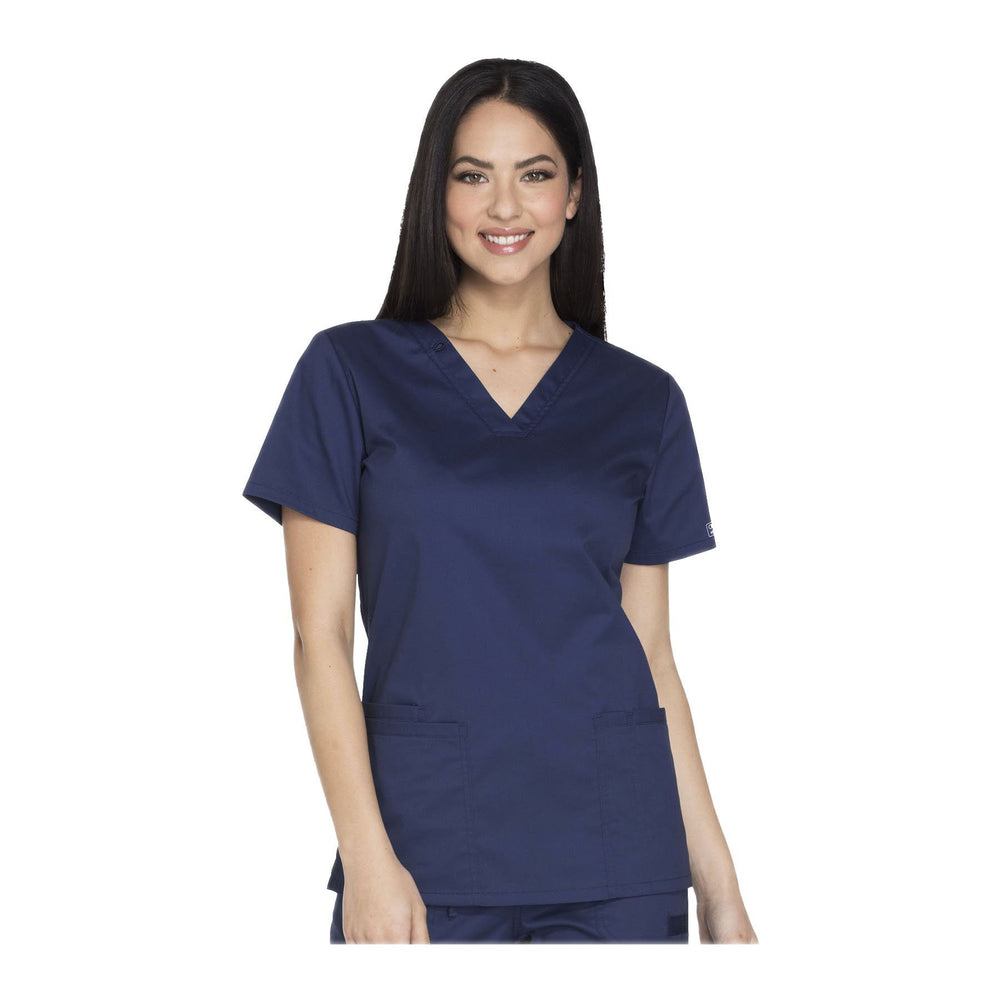 Cherokee Workwear Top WW Core Stretch V-Neck Top Navy Top