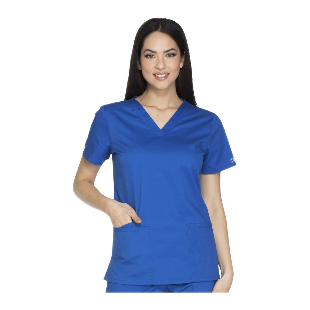 Cherokee Workwear Top WW Core Stretch V-Neck Top Royal Top