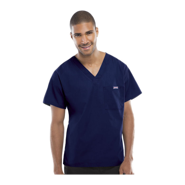 Cherokee Workwear Top WW Men's Men's V-Neck Top Navy Top