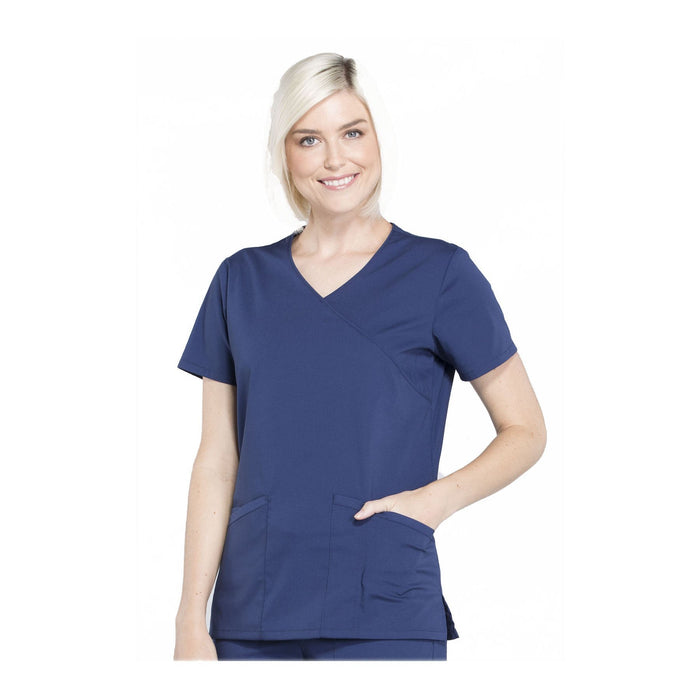 Cherokee Workwear Top WW Professionals Mock Wrap Top Navy Top