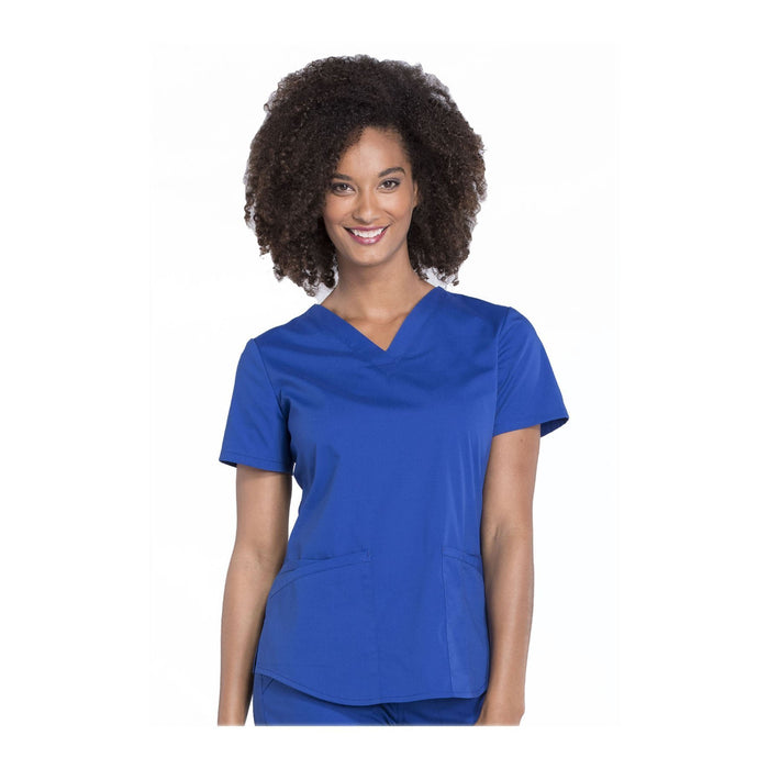 Cherokee Workwear Top WW Professionals V-Neck Top Galaxy Blue Top