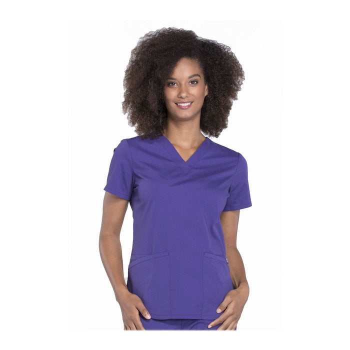 Cherokee Workwear Top WW Professionals V-Neck Top Grape Top