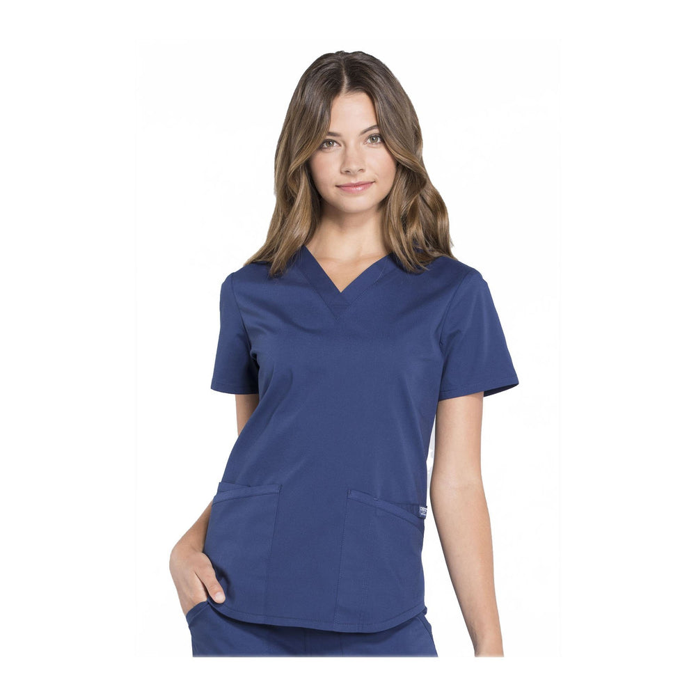Cherokee Workwear Top WW Professionals V-Neck Top Navy Top