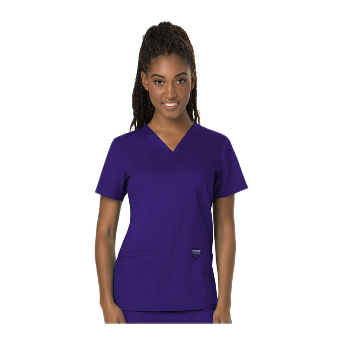 Cherokee Workwear Top WW Revolution V-Neck Top Grape