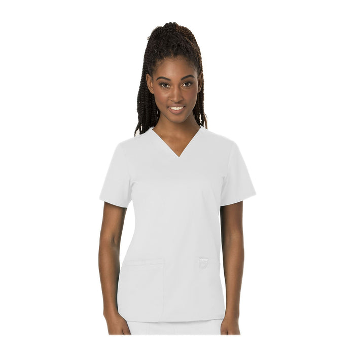 Cherokee Workwear Top WW Revolution V-Neck Top White Top