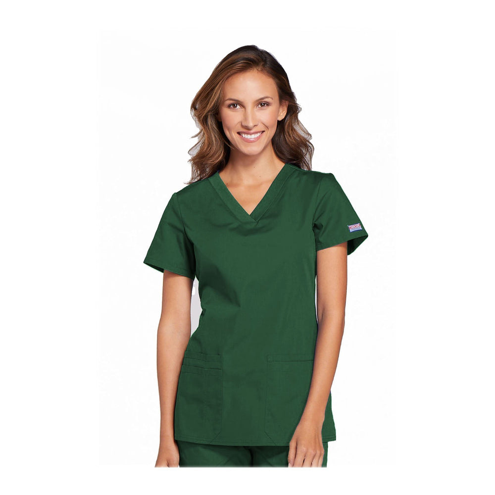 Cherokee Workwear Top WW V-Neck Top Hunter