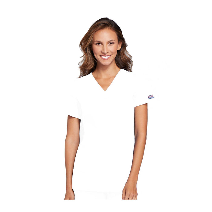 Cherokee Workwear Top WW V-Neck Top White Top