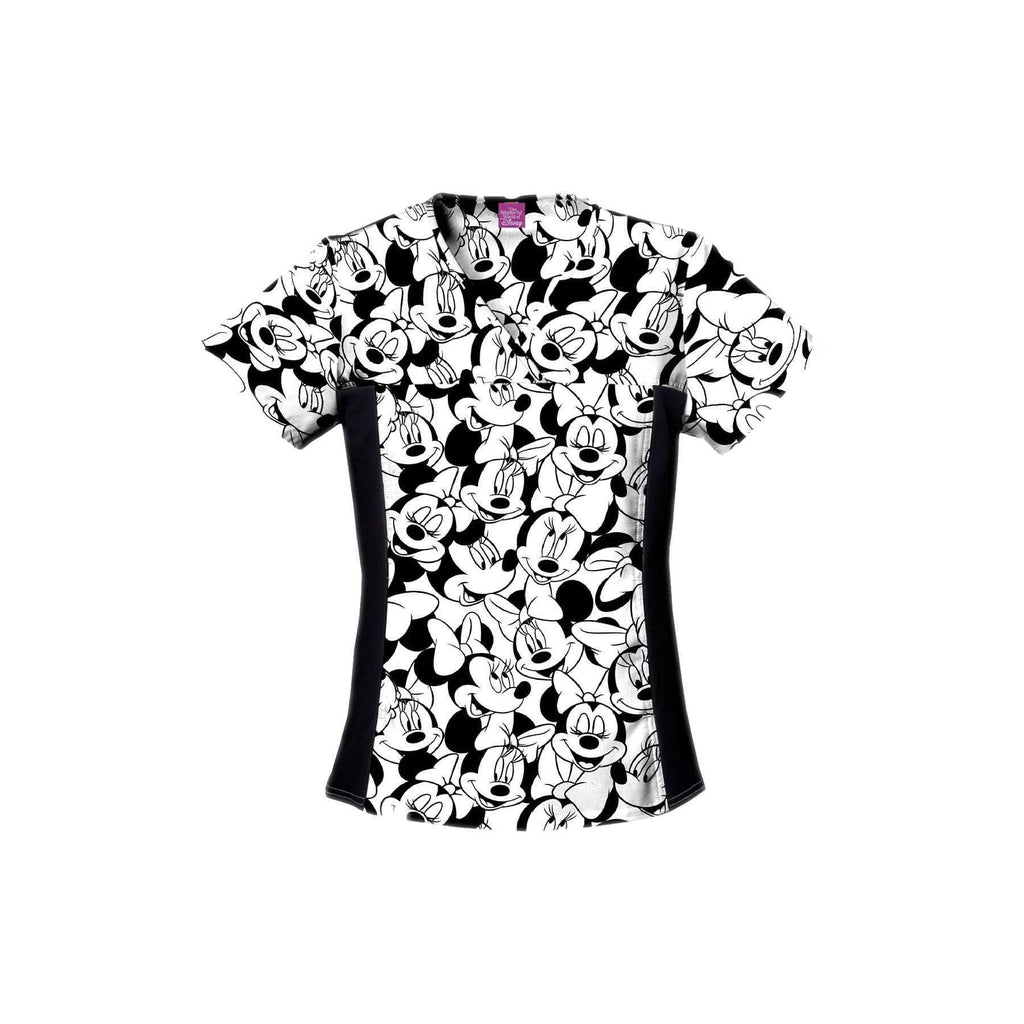 Tooniforms Top Tooniforms - Disney V-Neck Knit Panel Top Big Minnie Top