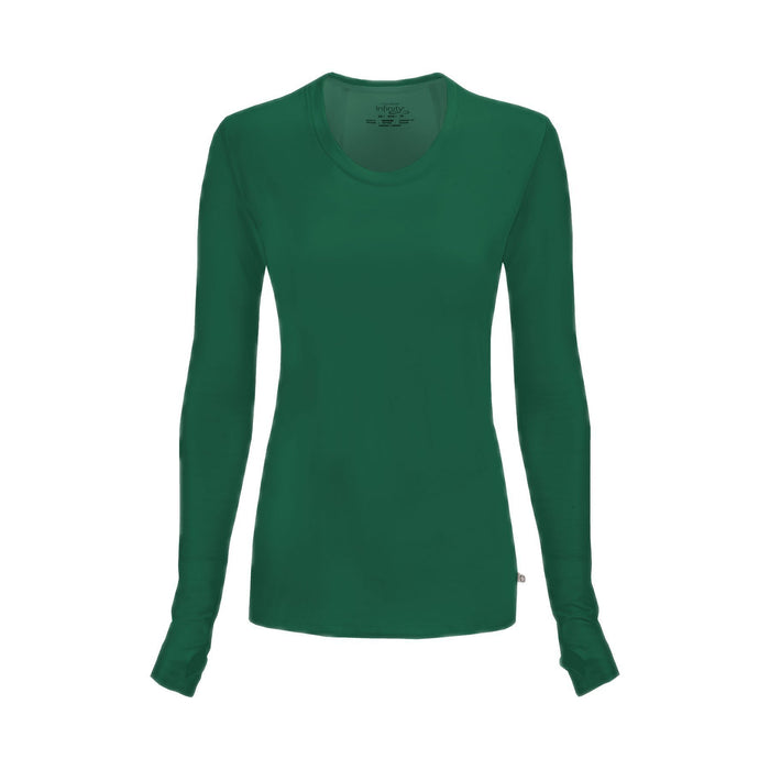 Cherokee Underscrubs Infinity Long Sleeve Underscrub Knit Tee Hunter Green Underscrubs