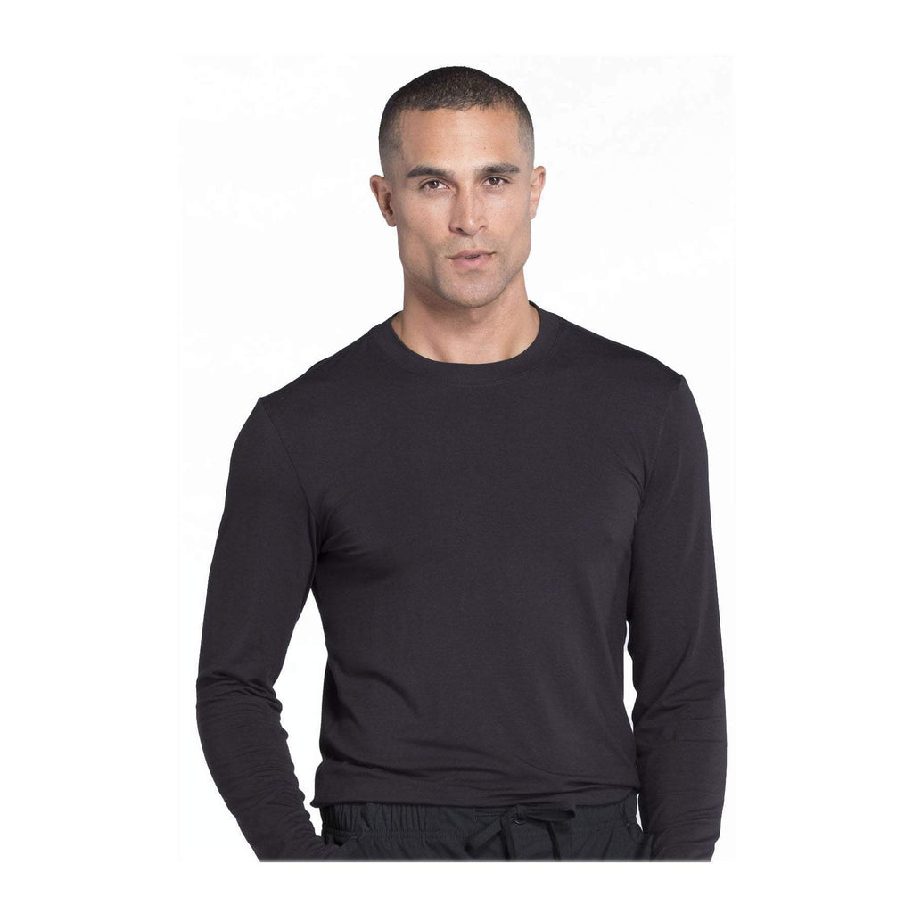 Cherokee Workwear Underscrubs WW Professionals Mens Men's Underscrub Knit Top Black Underscrubs