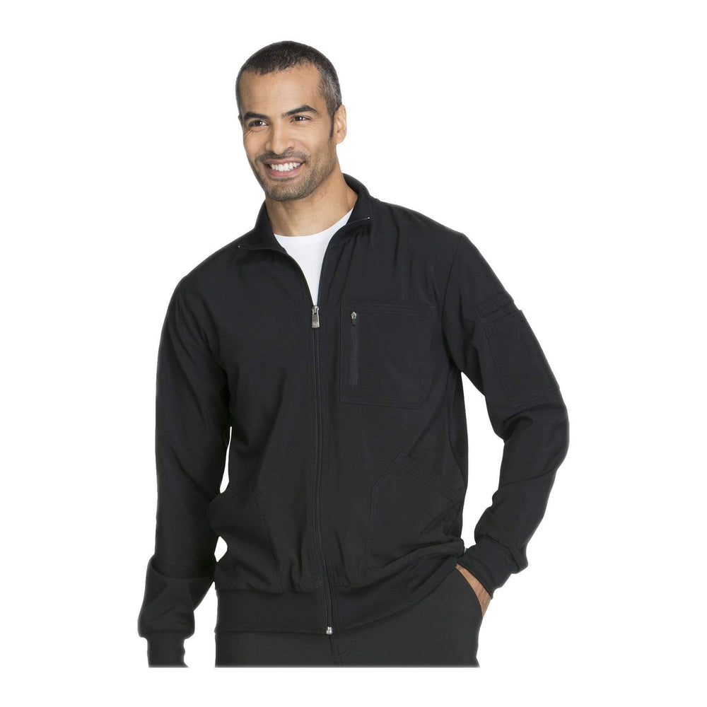Cherokee Warm Up Jacket Infinity Men Zip Front Jacket Black Warm Up Jacket