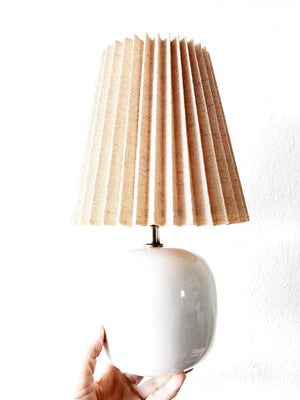 Vintage Ceramic Lamp with Shade